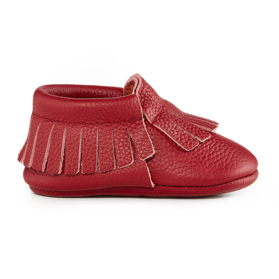 Signature Leather Moccasins - WINE
