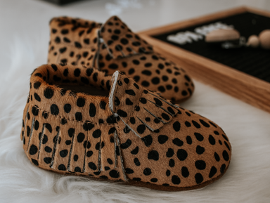 Signature Leather Moccasins -  LEOPARD