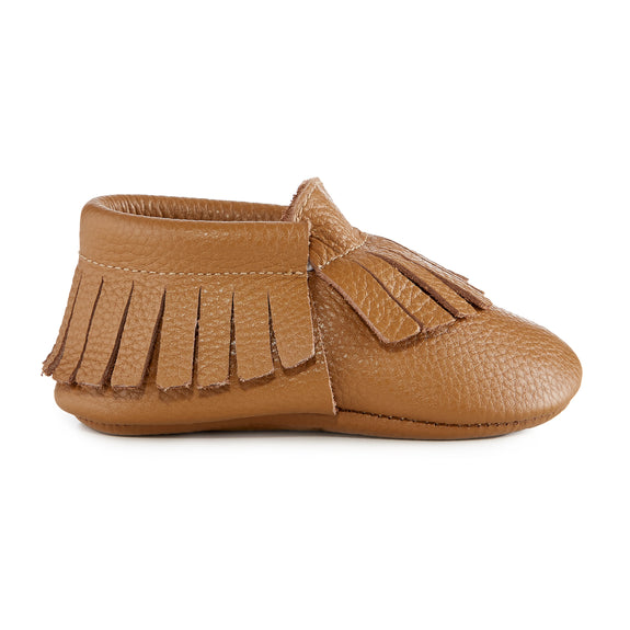 Signature Leather Moccasins - NATURAL