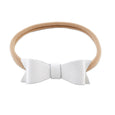 Hand-Cut Leather Bow Headband