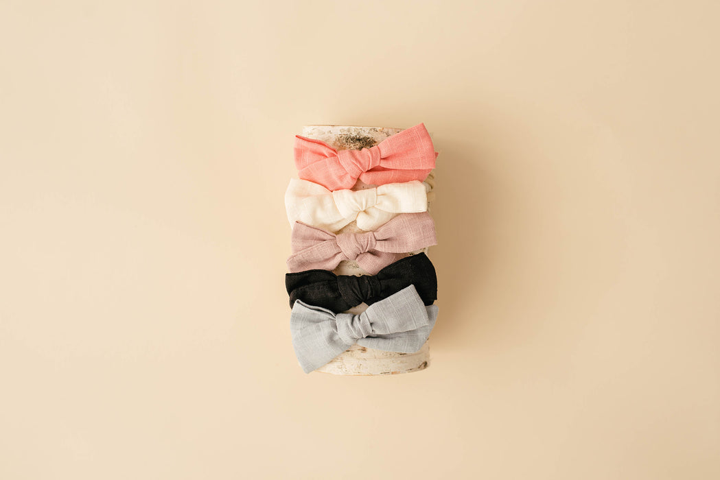 Linen Bow Headband - Babe Basics
