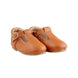 Hard-Sole Leather Mary Jane Moccasins - TAWNY 1