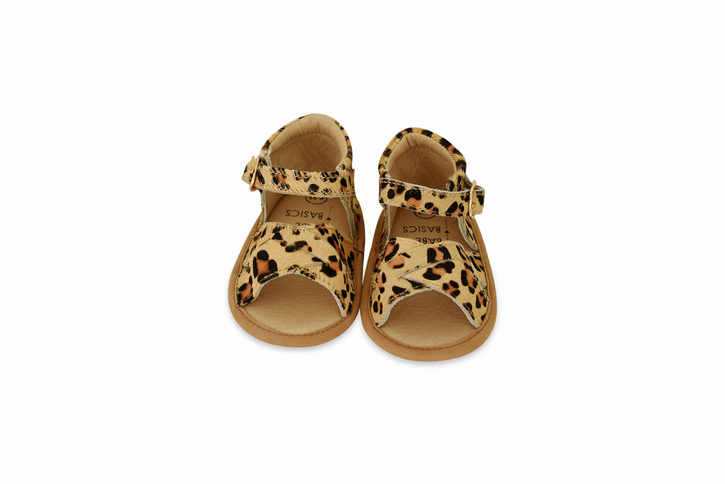 Leopard Baby Sandals | Babe Basics Genuine Leather Sandal for Babies and Toddlers - Babe Basics