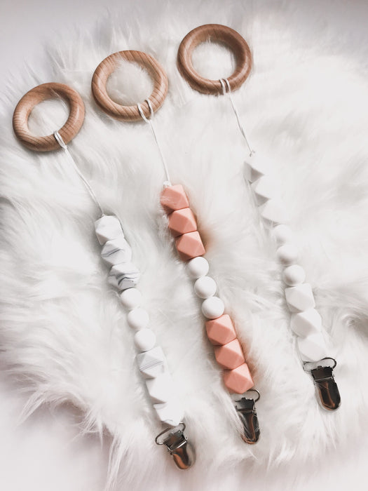 Pearl Pacifier Clip - Babe Basics