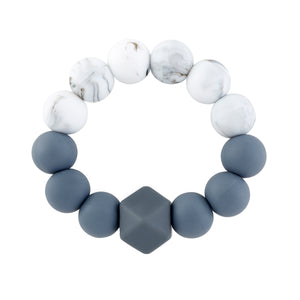 Marble & Grey Teething Rattle