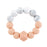 Marble & Peach Teething Rattle - Babe Basics