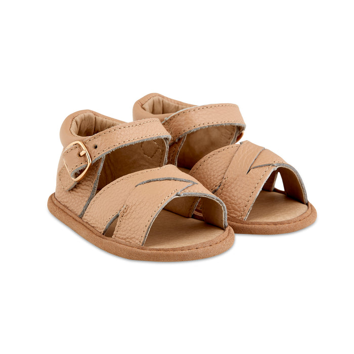 Caramel Leather Sandals - Babe Basics