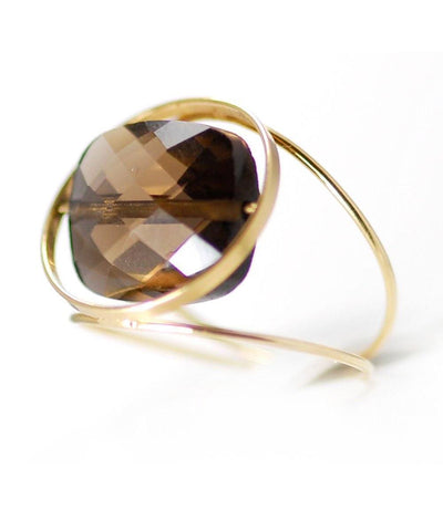 Grand Regard gold ring with interchangeable stone - Paola zovar