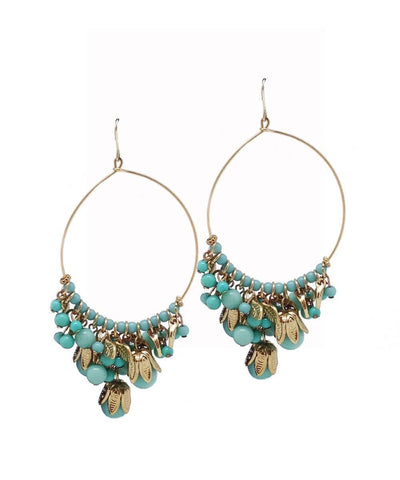 LESSisRARE turquoise Andalusian creole earrings