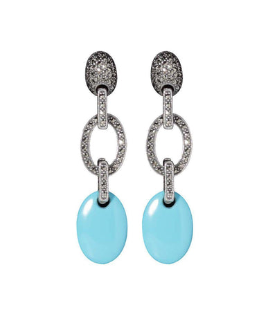 Turquoise and marcasite earrings - Metron