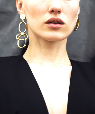 Isabelle Michel WAY mixed gold earrings