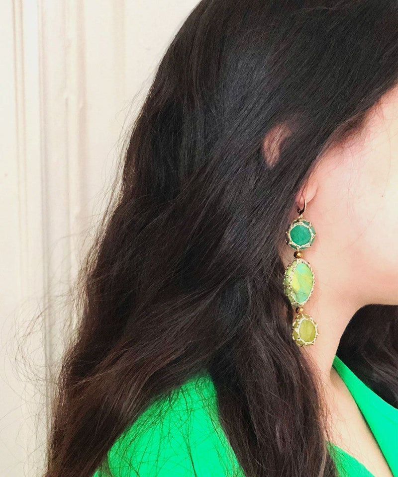 Myriam S green Boks & baum earrings