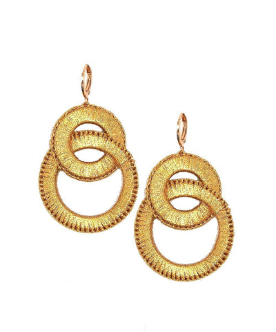 Boks & baum Gold Plume S earrings