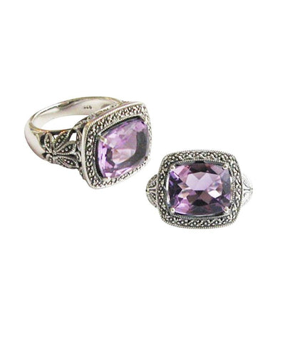 Amethyst art deco ring art deco designer