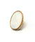 Large oval ring in white stone - Poggi
