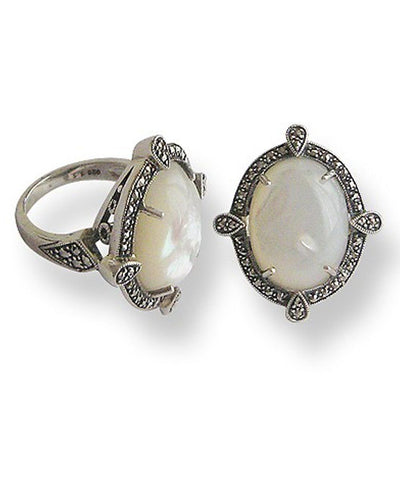 big-ring-mother-of-pearl-silver art deco