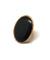Large oval ring matte black stone - Poggi