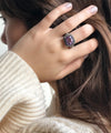 Amethyst art deco ring