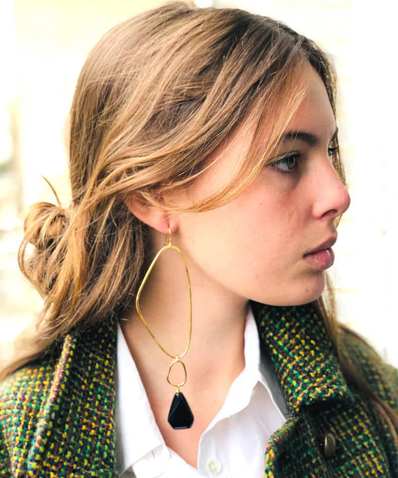 loop earrings-eloise-Fiorentino here agate-black-scope