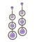 Lavender jade art deco earrings, marcasites and designer silver