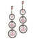 Art deco rose quartz, marcasite and designer silver earrings