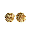 Poggi gold braided clip on earrings