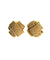 Poggi designer gold braid clip earrings