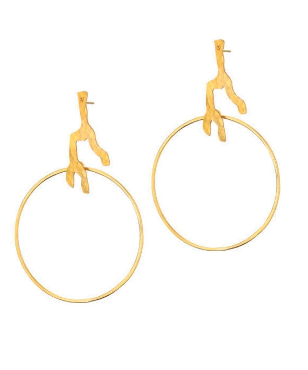 Designer root earrings Eloise Fiorentino