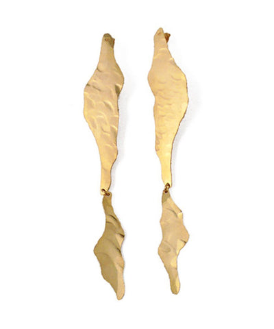 El deseo giant earrings in fine gold eloise fiorentino