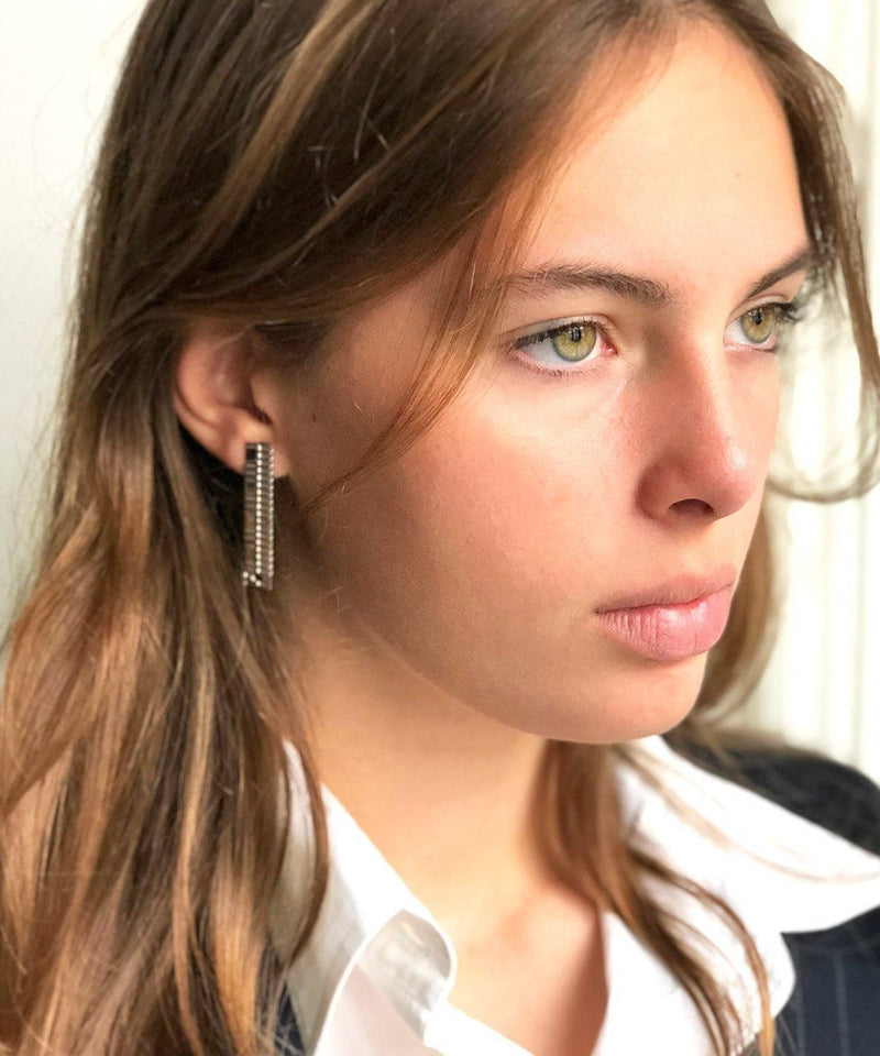 Gearing S silver designer earrings Earrings