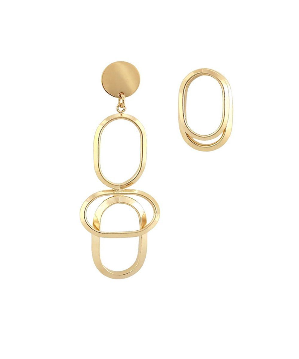 Mixed gold WAY earrings - Isabelle Michel