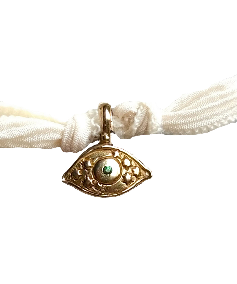 Mini Amazing Eye charm bracelet in bronze - Catherine Michiels