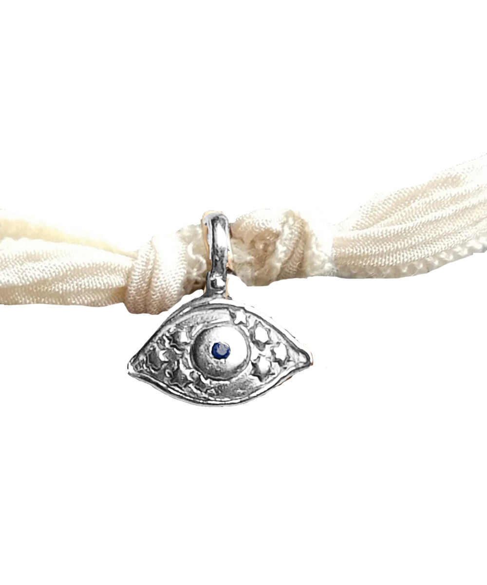 Mini Amazing Eye charm bracelet in silver - Catherine Michiels