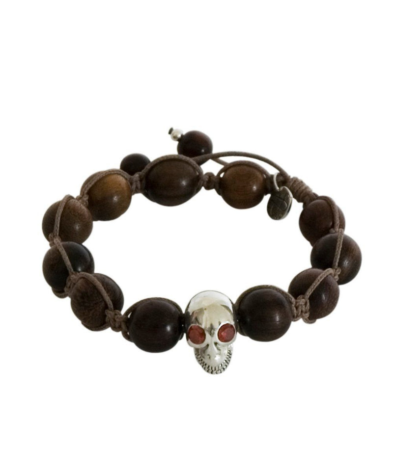Bracelet skull ebony and silver Editions LESSisRARE Jewelry