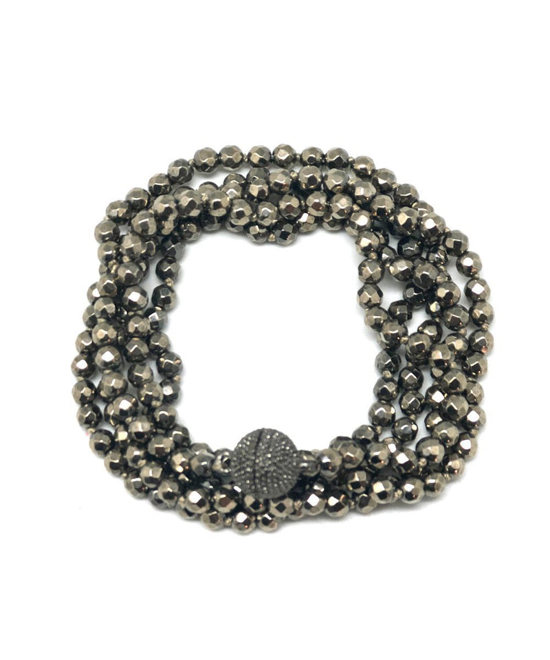 Bracelet with gray hematite beads - Fonsi