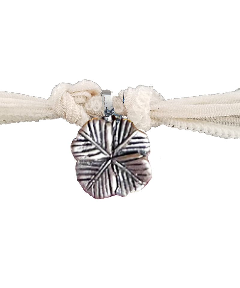 4 leaf clover charm bracelet in silver - Catherine Michiels