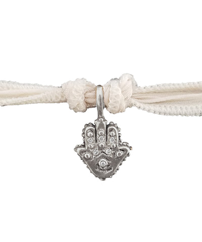 Hamsa charm bracelet in silver and sapphires - Catherine Michiels