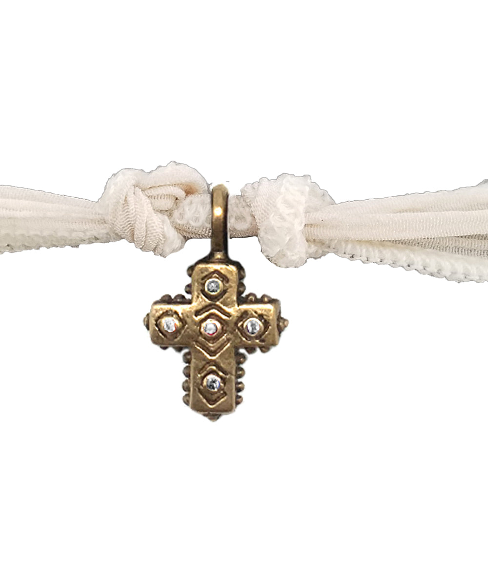 Bracelet charm All Saints en bronze et diamants - Catherine Michiels