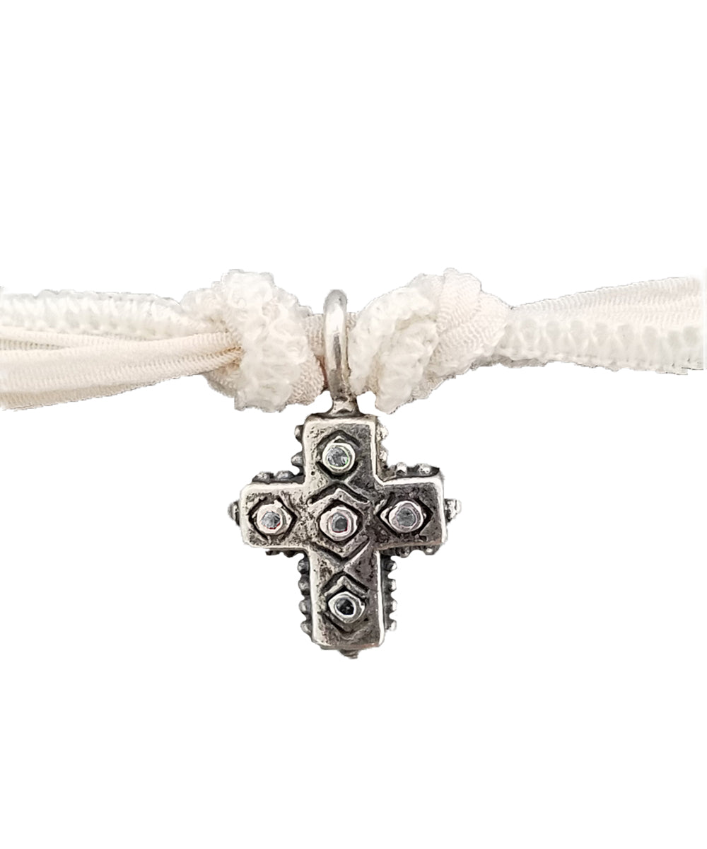 Bracelet charm All Saints en argent et diamants - Catherine Michiels