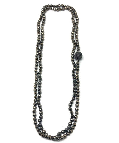 Necklace in gray hematite beads - Fonsi