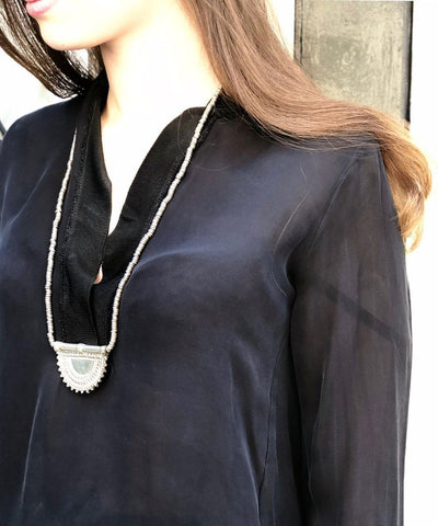 necklace-silver-worn Editions LESSisRARE Jewelry