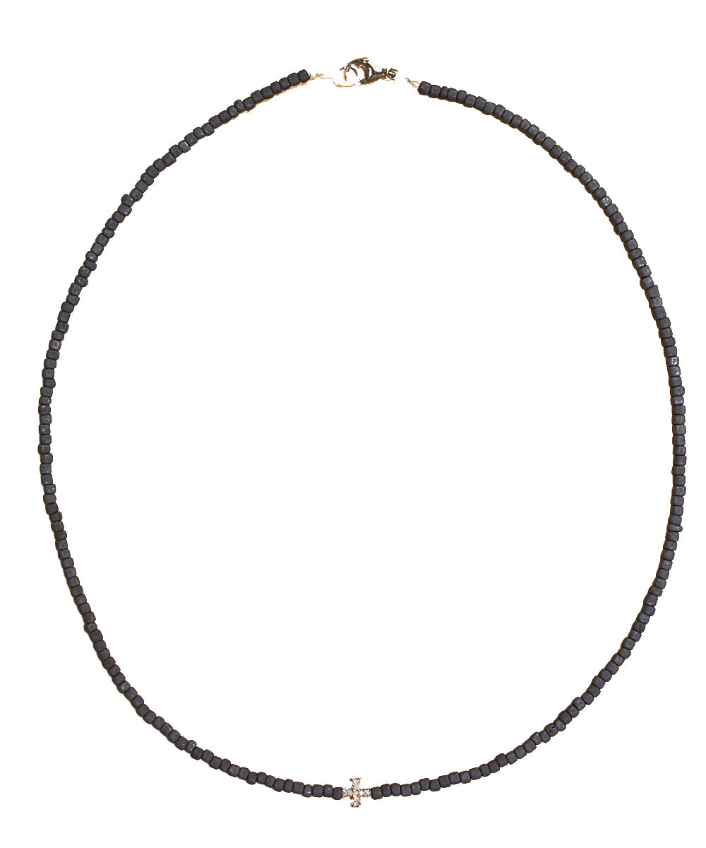 Collier Sammy croix de malte en argent et diamants- Catherine Michiels