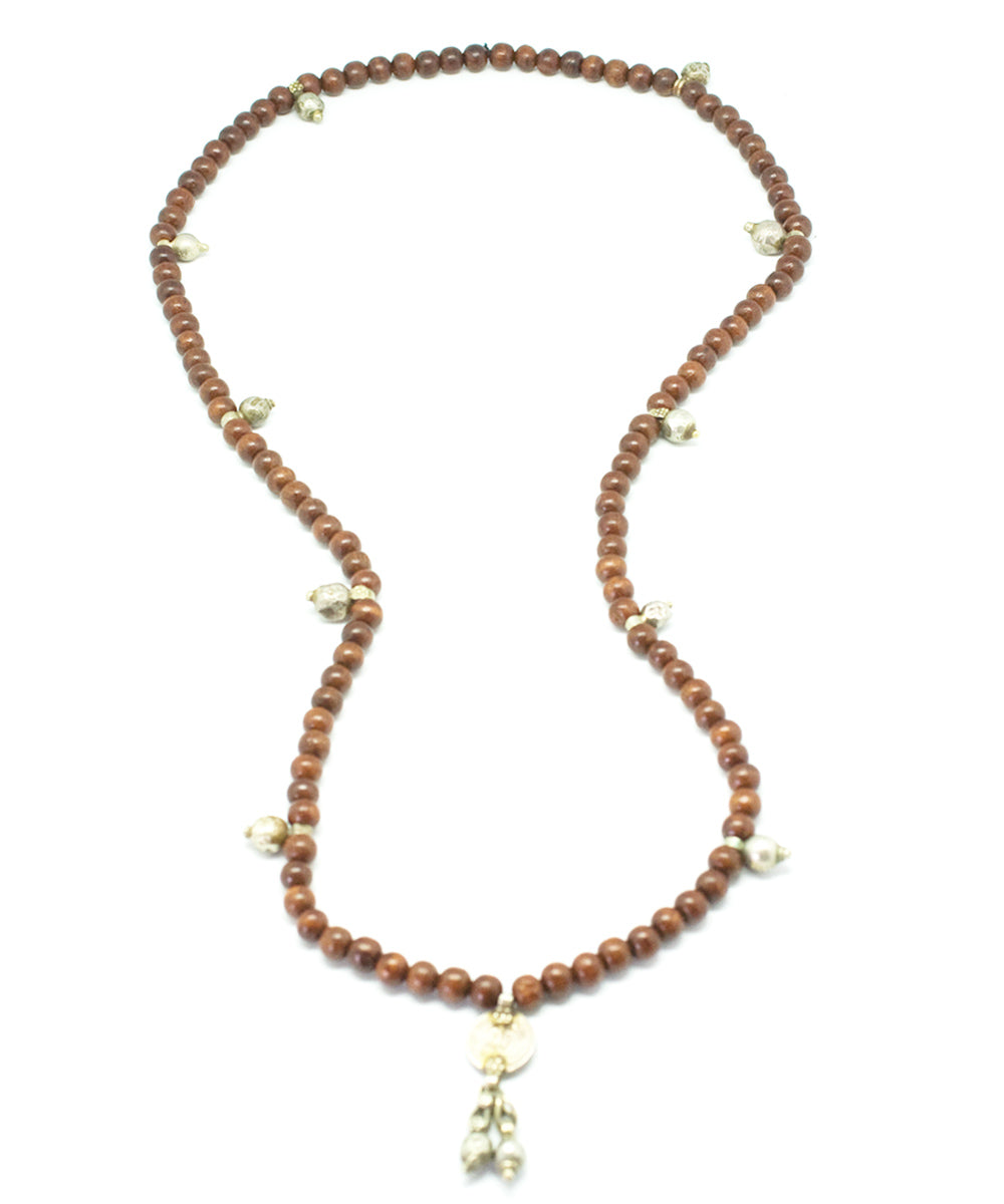 Light wood mala long necklace - Jewels of Mala
