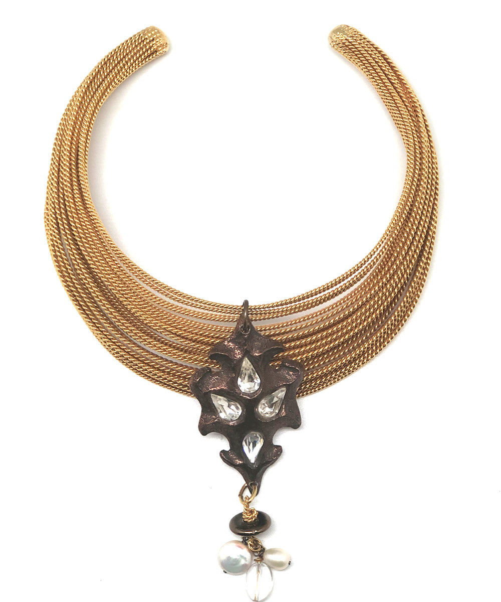 necklace torque sultane carole saint germes