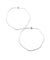 Silver sacred sacred hoop earrings- Eloïse Fiorentino