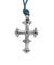 Silver and sapphire cross David pendant - Catherine Michiels