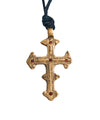 Pendentif David Cross en bronze et grenats - Catherine Michiels