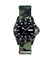 Oxygen MBB Diver black Army front watch