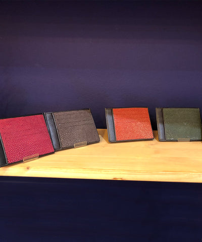 card holder in shagreen galuchat gallery