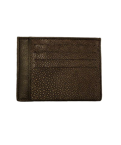 Card holder in brown shagreen